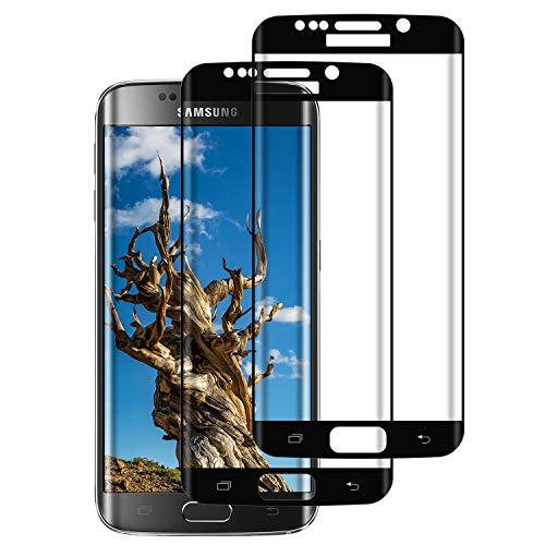 PUUDUU 2 Pezzi Pellicola Protettiva per Samsung Galaxy S7 Edge, Confezione in Vetro temperato per Samsung Galaxy S7 Edge, durezza 9H, Senza Bolle, Resistente ai Graffi - Trasparente