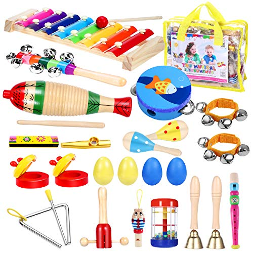Product Image of the iBaseToy Toddler Instruments, Toddler Musical Instrument Set Kids Instruments...