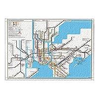 Assanu 地図の装飾ニューヨーク市の地下鉄バスラグ滑り止めドアマット玄関屋内玄関マット子供用バスマット15.7x23.6inバスルームアクセサリー