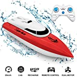 JTLB Bateau Drone télécommandé Bateau Course aéroglisseur véhicule amphibie Jouet Mini Drone pour Enfants rc Multifonctionnel Bateau fête Jouet fête Cadeaux