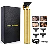 Professional Cordless Hair Clippers, Beard Trimmer Barber Hair Cut Grooming Kit, Zero Gapped Trimmers, Rechargeable Close Cutting T Blade Trimmer for Men Haircutting Kit, Hair Clippers for Men's Gift