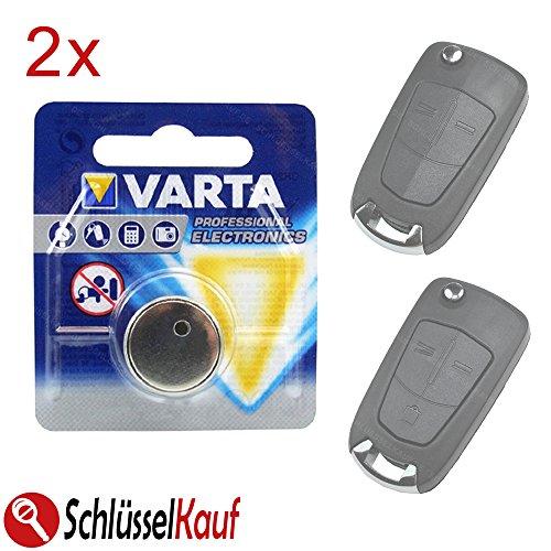 2X Autoschlüssel Batterie Knopfzelle passend für Opel Astra H Corsa D Omega Signum Vectra Zafira