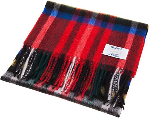 I Luv Ltd Unisex Cashmere Scarf In Exploded Stewart Royal Tartan Design