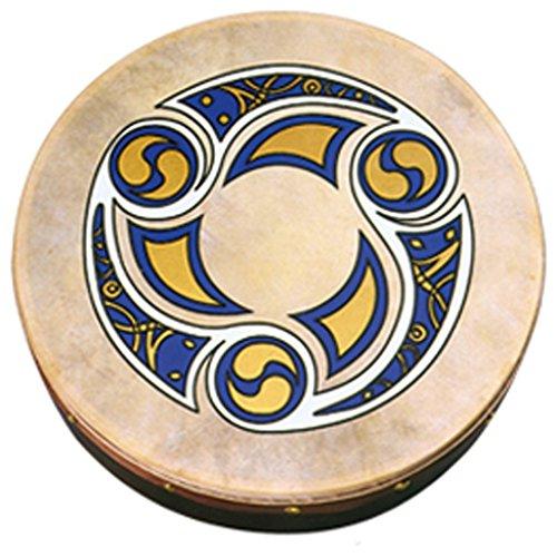 Waltons 18' Trinity Bodhrán - Handcrafted Irish Instrument - Crisp & Musical Tone - Hardwood Beater Included w/ Purchase