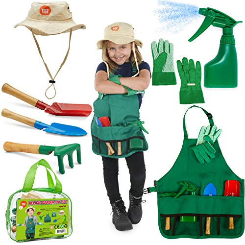 Product Image of the Born Toys Kids Gardening Set, with Kids Gardening Tool Set, Kids Gardening...