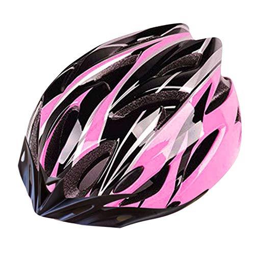Fahrradhelm Bicycle Helmet Road Cycling Mountain Bike Sports Safety Helmet,Geschützter Fahrradhelm Herren Damen Fahrradhelm Einstellbarer Sicherheitsschutz Skateboarding Ski & Snowboard (Rosa)