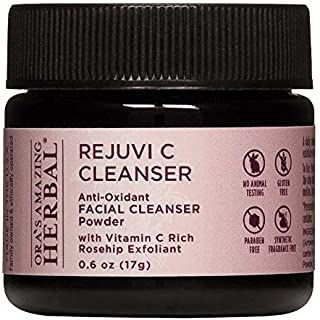 Rejuvi C Cleanser Powder Face Wash, Soap Free Facial Cleanser, Gentle Cleansing Powder for All Skin Types, Organic Rosehips, Hibiscus and Frankincense