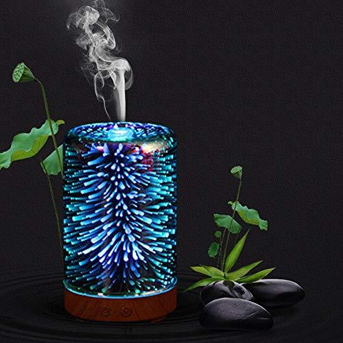 Chef Turk Humificadores USb creativa de cristal 3D del humidificador humidificadores portátil de coches con luz cálida ultrasónico ultra silencioso de apagado automático for el dormitorio principal Yo