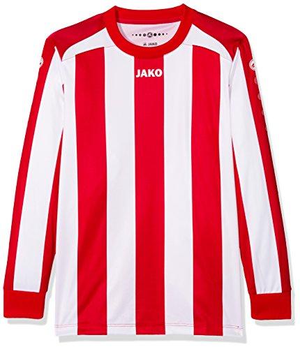 JAKO Kinder Fußballtrikots LA Trikot Inter, Rot/Weiß, 140