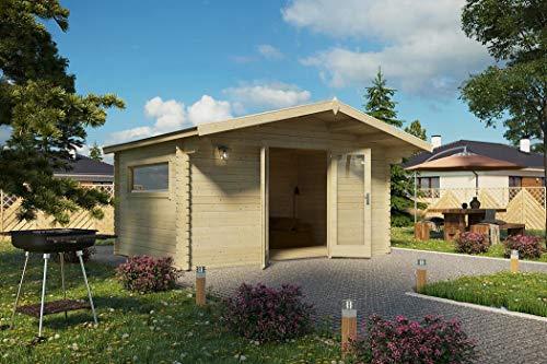 Vikträ Gartenhaus 40 mm Doppelnut PLACAS III 40 ISO...
