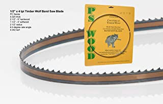 """PS Wood Timber Wolf 145"""" x 1/2"""" x 4 tpi Band Saw Blade"""