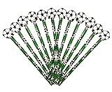 12 x Fußball HB Bleistifte mit großem Radiergummi in Kugelform Ideales Partytütenfüller,...