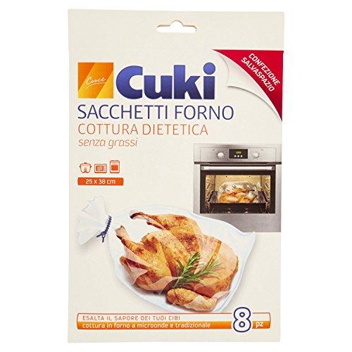 Cuki Cottura Dietetica Senza Grassi - Pacco da 8 Pezzi 25 x 38 cm