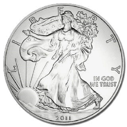 2011 American Silver Eagle .999 Fine Silver Dollar Uncirculated US Mint with Our Certificate of Authenticity