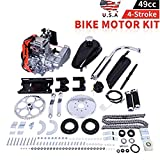49cc Bike Bicycle Engine Kit, Motorized Bike 4 Stroke, Gas Petrol Motorized Bike Engine Scooter Parts for 26' Bikes (Shipped from US) (Silver, 49cc)