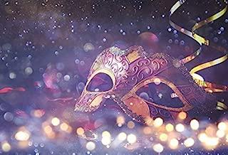 Leyiyi Costume Mask Backdrop 7x5ft Photography Background Glitter Sparkle Spots Masquerade Rock Music Ball Bridal Shower Ribbon Girls Photo Portrait Vinyl Studio Video Shooting Prop