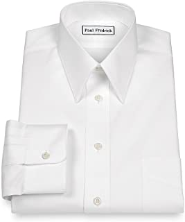 Men's Pinpoint Edge-Stiched Straight Collar Dress Shirt