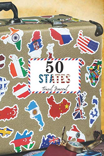 50 States Travel Journal: United States of America, Visiting All 50 States Travel Challenge Journal Diary Notebook. Road Trip Vacation activity log book with Suitcase
