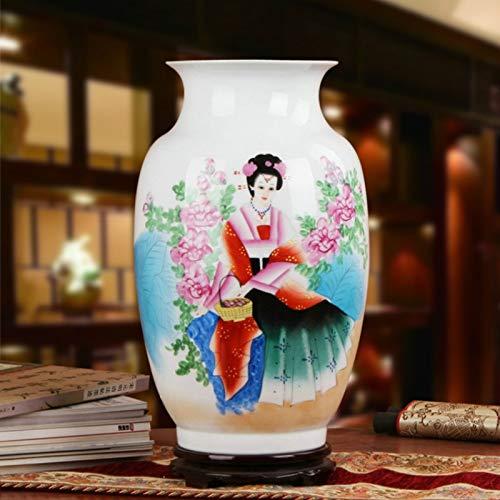 ZYG222 Handgeschilderde porseleinen vaas Chinese oude schoonheid vloer vaas grote grootte vaas huishoudelijke artikelen woonkamer