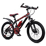 Bicicleta Para Niños Y Niñas, Bicicleta De Montaña Para Niños 20 22 Ruedas De 24 Pulgadas Freno De Disco De Velocidad Variable De 21 Velocidades Bicicleta De Montaña ( Color : Red , Size : 24 inches )