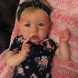GUOHAPPY 22 Pulgadas Saskia Reborn Baby Doll Lifelike Reborn Toddler Muñeca Silicona Realista Mirando Recién Nacido Vinilo Muñecas Hecho A Mano Niño Juguete para Edad 3+,Silicone Vinyl Body