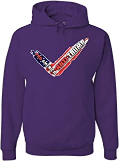 Tee Hunt Pro-America Anti-Trump American Flag Hoodie Dump Trump Sucks Sweatshirt