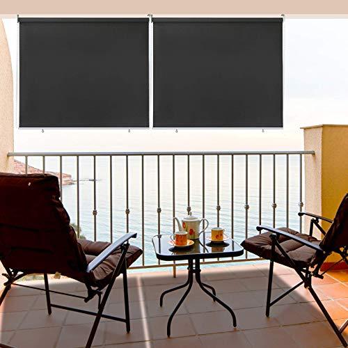 TolleTour 180x240 cm Toldo Terraza con la Cadena de Bolas, Balcon, Toldo De Exterior Toldo De Patio Toldo Impermeable Toldo Vertical De Balcón, Resistente A Los Rayos UV Y Al Agua, Gris