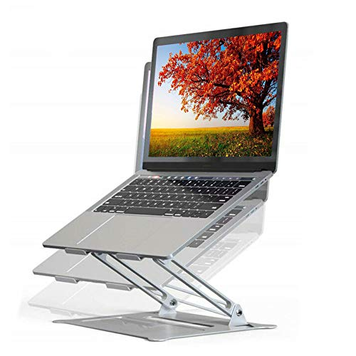 MagicHold Adjustable Laptop (10-17 inch) Stand Office Notebook Aluminum Stand Riser Compatible with MacBook Pro/Air,IPAD Pro 12.9 /Tablet/E-Book,Samsung, Dell, Laptop