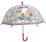 Paraguas Unicornio Transparente 48 cms Poliester, Manual