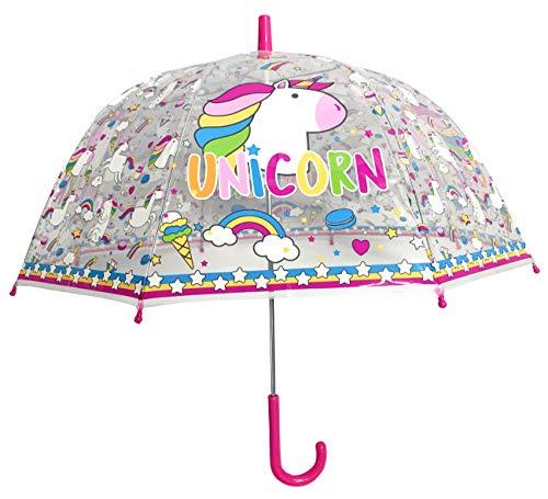 Paraguas Unicornio Transparente 48 cms Poliester