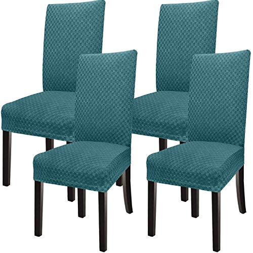 Dining Room Chair Covers Dining Chair Cover Kitchen Chair Covers for Dining Room Set of 4(Teal, 4)