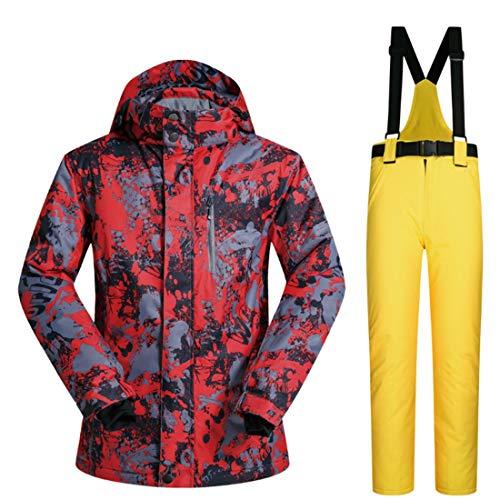 YUDING Herren Skianzug Ski Jacket Windjacke Rain Jacket und Hose L 01