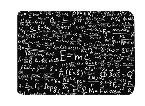 Einstein Physics Formula Science Geek Negro Blanco Entradas Alfombra de entrada antideslizante delantera Alfombra de entrada para exteriores / interiores Duradera e impermeable Alfombra de puerta lava