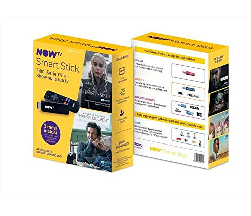 Now Tv 3 Mesi di Abbonamento, Smart Stick Sky Cinema, Serie Tv o Intrattenimento