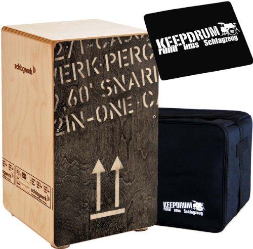 Schlagwerk Cajon + keepdrum Gig Bag + CP-01 Pad (CP404 BK + Bag + Pad)