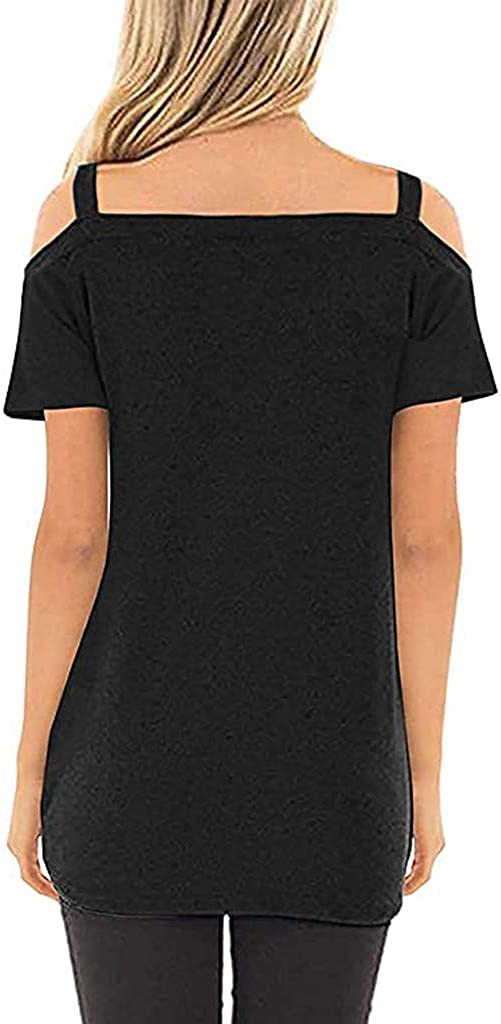 TRENDINAO New Philadelphia Mall Free Shipping Women's Sexy Cold Shoulder Short Tunic Sle Tops Casual