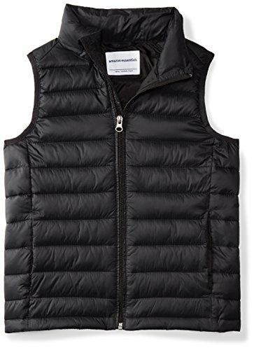 Amazon Essentials Jungen Boys\' Lightweight Water-Resistant Packable Puffer Vest, Schwarz (black caviar), L (Herstellergröße: 10)