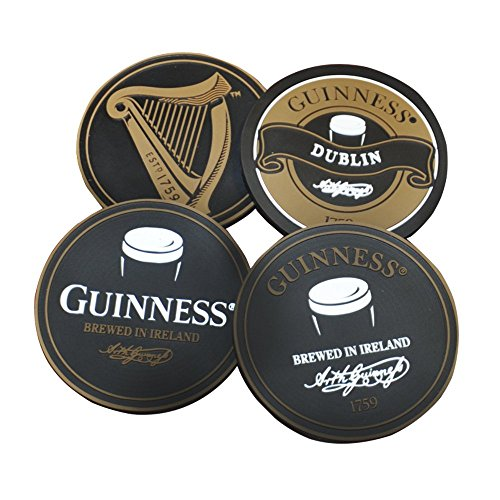 Guinness–Set di sottobicchieri in PVC, inciso variety 4Pack