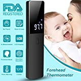 Forehead Thermometer, Digital Infrared Thermometer Non-Contact Ear Thermometer Professional Medical Thermometer Body Infants Accurate Reading with LED Backlight Display for Baby Kids Children Adults
