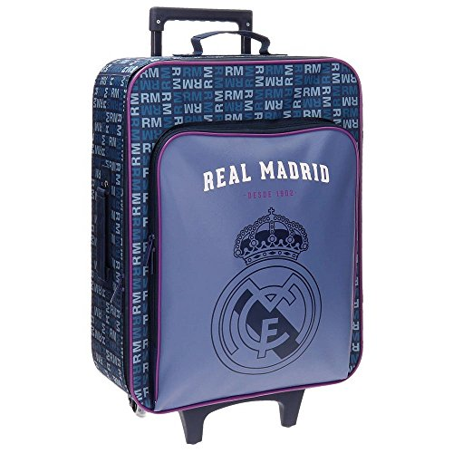 Real Madrid 5649051 Basic Equipaje Infantil, 52 cm, 26 litros, Multicolor