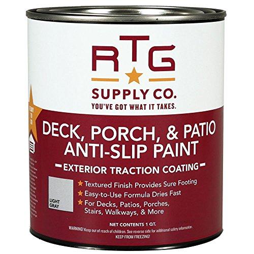 RTG Deck, Porch, & Patio Anti-Slip Paint (Quart, Light Gray)