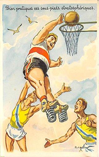 Baskteball Springs Old Vintage Basketball Postcard Post Card