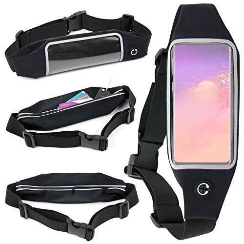DURAGADGET Ceinture de Sport réglable pour Samsung Galaxy A50, A50s / A30, A30s / S10 / S10e / S10 5G / S10+ (Plus) / M10 / M20 Smartphone - écran Tactile + Poche Interne