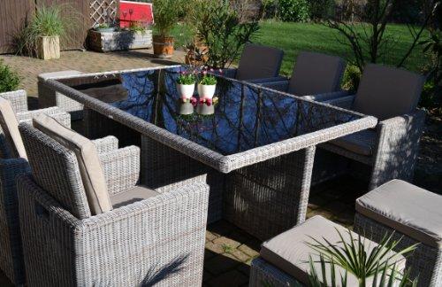 Polyrattan Rattan Geflecht Garten Sitzgruppe Toscana XL Bild 6*