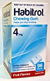 Habitrol Nicotine Gum 4mg Fruit 96 Pieces Buy 1 Box or MORE! by Novartis