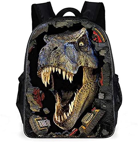 Bolsas de escuela de dinosaurios 3D, mochilas de dinosaurios con bolsa de hombro y bolsa de lápices para adolescentes y niños
