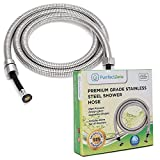 PurrfectZone Shower Hose Replacement - perfect for Shower or Bidet Sprayer, easy installation (60 inch, Brushed Nickel)