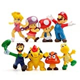 LW 8 pcs Lovely Animal Characters Toys Mini Figure Collection Playset, Cake Topper, Plant, Automobile decoration