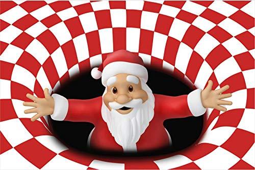 Weihnachten 3D Wirbel-Illusionsbereich Teppichbodenmatte, ultra-haltbarer Teppich-Teppich, rutschfeste Bodenmatte für Eingangs-Schlafzimmer Wohnzimmer Weihnachtsdekoration-D 31x79inch (80x200cm), A, 3