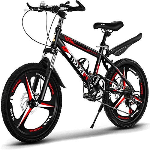 Bicicleta para niños de 20 Pulgadas para niños, Bicicleta para niñas, Apto para niñas y niños de 9 a 14 años, con Freno de Mano, Rojo.